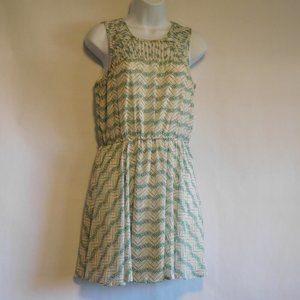 CANDIES Green and pink sleeveless dress Size M